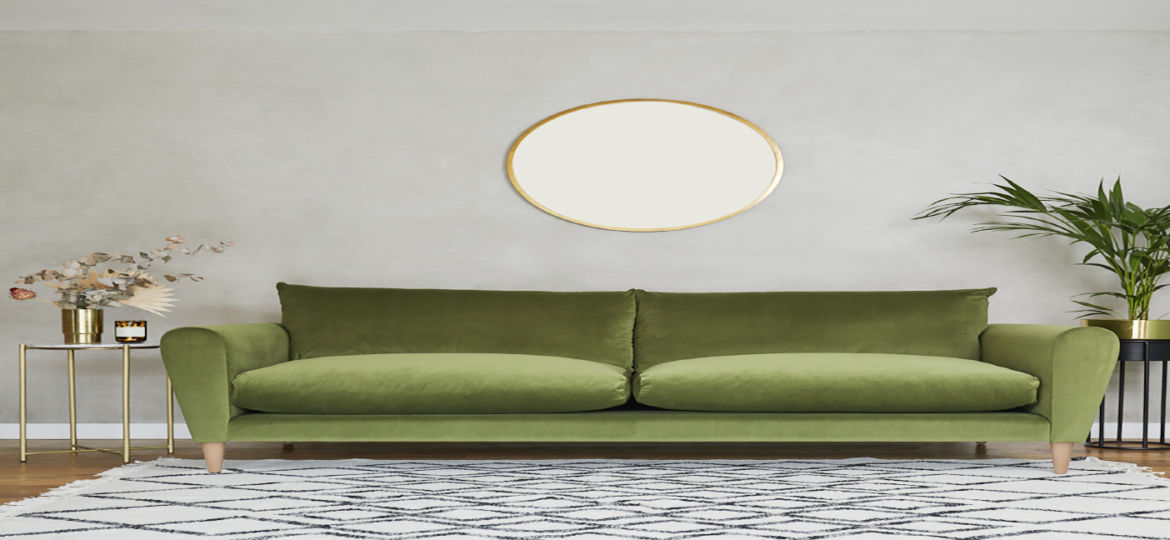 Nancy-3-Seater-Sofabed-Moss-Green-Velvet-Walnut-just-one-Cult-Furnitures-products-being-delivered-by-Panther.jpg